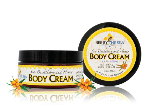 Body Cream Jar - Old Photo with Berries