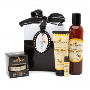 Bee By The Sea Classic Large Gift Box with Body Cream, Body Wash, Face Cream and Spearmint Lip Balm