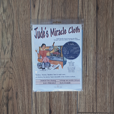 Jude's Miracle Cloth – 2 pk – white / blue