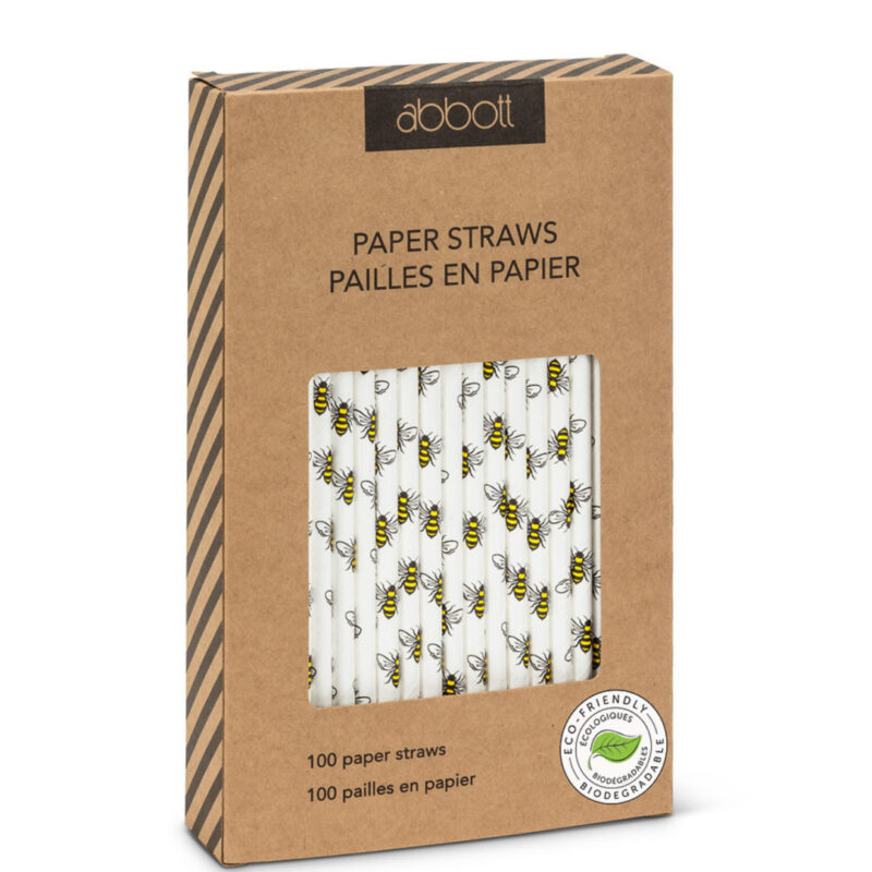 Bee Paper Straw Pack