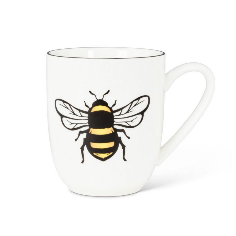 Yellow Bee Belly Mug