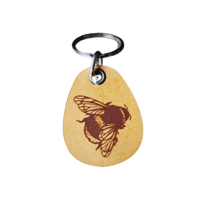 Bumble Bee Leather Keychain